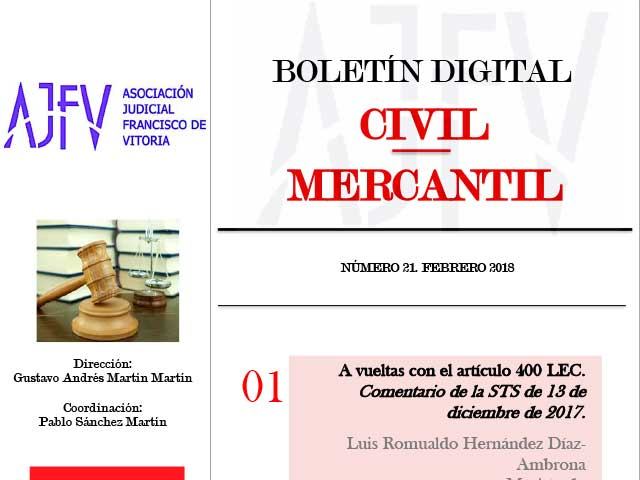 Boletín CIVIL-MERCANTIL Febrero 2018